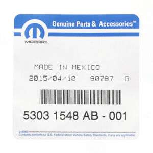 Genuine Mopar Accelerator Cable 53031548AB