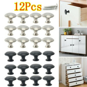12X Cabinet Knobs Stainless Steel Bedroom Kitchen Drawer Cupboard Handle Pulls