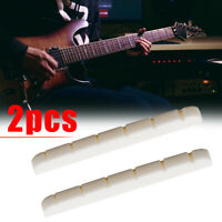 2x New Compact Bone Nut 42mm for Electric Guitar Strat Stratocaster Tele
