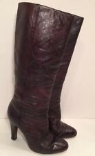FRYE Women's Brown Burgundy Genuine Leather Boots Footwear 7 M