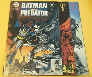 BATMAN VERSUS PREDATOR #1 2 3 SET DC 1991