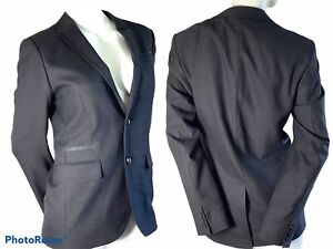 🌺Ted Baker Blazer Bayvil Birdseye Design Mens Jacket Grey Size 1 XS 34 Chest🌸