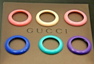 New Gucci 6 Plastic Bezel Set - The Springtime Collection - for 1100 -