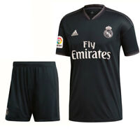 Adidas Fußball Real Madrid CF Away Set 2018 2019 LFP Auswärts Trikot Hose Kinder