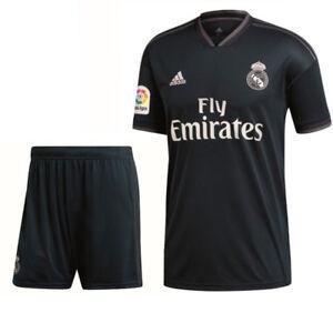 Adidas Fußball Real Madrid CF Away Set 2018 2019 LFP Auswärts Trikot Hose Kinder