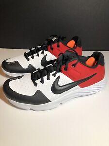 Size 11.5 Nike Alpha Huarache Elite Baseball Turf Red Black Bred Toe AJ6877-106