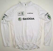 Bicycle Jacket Milremo Le Tour de France Skoda White Jersey Long sleeves Rare L