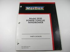 MacDon 5020 Power Tongue Windrower Swather Parts Manual Book Catalog Wind Rower