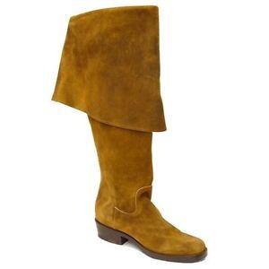 Jack Sparrow Boots Pirates of the Caribbean CABOOTS Men 10D Tan Suede gasparilla