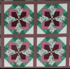 King Size Cheater Quilt Top Mamaw's Quilt Burgundy  90 x 108 (3 Yards)