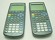 Lot of TWO(2) TEXAS INSTRUMENTS TI-83 Plus Graphing Calculators w/ Cover