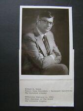 Glossy Press Photo 1981 Alfred M Zeien Senior VP Tech The Gillette Co