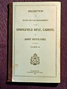Antique Book - Springfield Rifle, Carbine, And Army Revolvers - 1898
