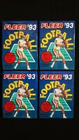 1993 Fleer Football Pack 4 Pack Lot