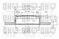 QUINTON HAZELL BDC3150 BRAKE DISCS (PAIR)  RC480361P OE QUALITY