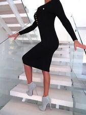 Italienische L Damenkleider mit Rundhals-Ausschnitt