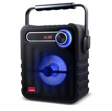 Bluetooth Lautsprecher Tragbar 75W 1200mAh LED Beleuchtung AUX USB MicroSD