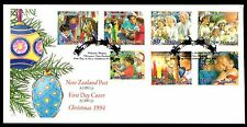 New Zealand 1994 FDC Christmas Issue - Set of 7