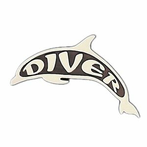 Stick On Plastic Scuba Diving Dive Dolphin Emblem GA39