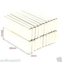 20Pcs Super Strong Block Cuboid Magnets 30 x 10 x 3 mm Rare Earth Neodymium N50