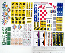 CUSTOM AIRPORT STICKERS LOT for MODELS, TOYS, Lego 3182 7734 , ETC