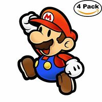 Mario Brothers Paper Mario Luigi Bowser Vinyl Sticker Decal 4X4 03