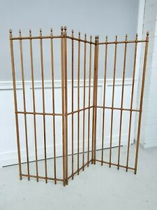 Victorian Arts and Crafts Pitch Pine Room Divider / Fabric or Clothes Hanger