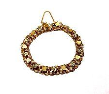 Vintage Eton Gold Filled Hearts & Flower Bracelet