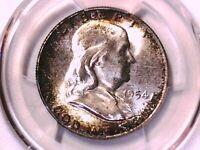 1954 P Franklin Half Dollar PCGS MS 65 Obv Die Clash FS-402 39860265 Toned