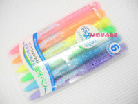 6 Colors x Pilot FriXion Light Erasable Highlighter Highlighting Markers w/ Case