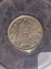 1911-P Liberty Nickel AU58 By Anacs. Beautiful Coin.