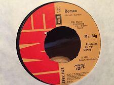 "7"" RARE VINYL - MR.BIG - ROMEO / GOODBYE WORLD - EMI 2567 - 1977"