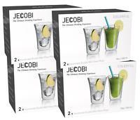 8 Cups Clear Glass Double Wall Coffee Mug Tea Mug Espresso Cup 10oz ( 4 Set )