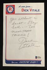 Dick Vitale Signed ESPN Commentator BAS Auto Personal Note Awesome Baby 1/1!!!