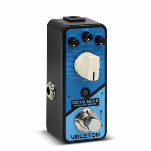 Valeton Coral Mod II Digital Modulation Multi Effects Guitar Bass Pedal CRL-8