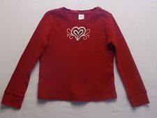 "Gymboree ""Alpine Sweetie"" Heart Red Thermal LS Top, 7"