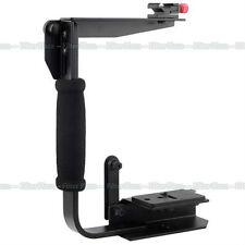 Quick Flip Flash Bracket Grip Camera Arm Handle Holder stand For Tripod Monitor