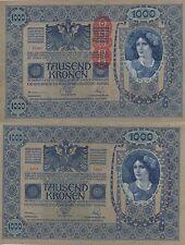 AUSTRIA 1000 KRONER. 2 de Junio de 1902. Serie 1556. Nº 70877. Tamaño 193x130.