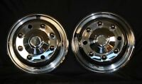 """19.5"""" 8 Lug chevy 4500/5500  Wheel Simulators Tow Truck front pair bolt on new"""