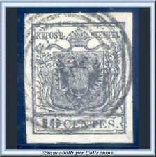 Italia ASI 1850 Lombardo Veneto Stemma cent. 10 grigio nero n. 2c Usato Raybaudi