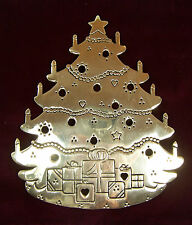 Vintage LILLIAN VERNON Brass CHRISTMAS TREE TRIVET