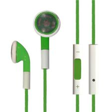 GREEN NEW HANDSFREE Earbud FOR APPLE IPHONE4/4S/5 IPAD2/3/4 Double In-Ear Only