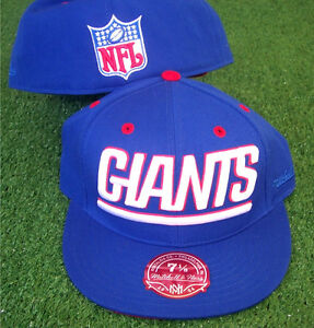 NFL New York Giants Mitchell and Ness Hat Cap Adult Fitted - All Sizes M&N NEW