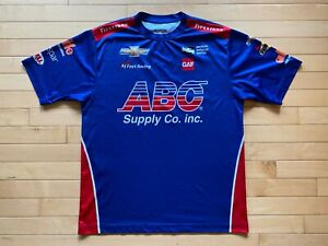 #4 INDYCAR Conor Daly AJ Foyt Racing Shirt Jersey Racing M ABC Supply Chevy Sz M