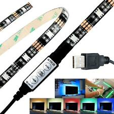 5V Bias Lighting HDTV USB Power 27 LED RGB Strip Computer TV Backlight Light Kit