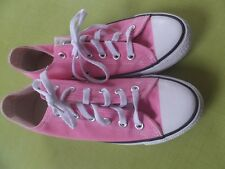 Women Ladies ALL STARs Pink Chambray, 4.5, Mint