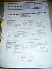 Service Hinweise für Telefunken TR 350,ORIGINAL