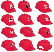 ADLT KIDS BASEBALL CAP LETTER A Z Alphabe HAT BEANIE SNAPBACK Adjustable Strap