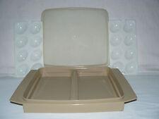 Tupperware Deviled Egg Tray Keeper Holder Carrier Almond Color