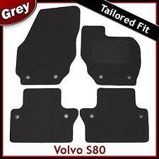 Volvo S80 Manual Tailored Fitted Carpet Car Mats GREY (2006 2007 2008 2009 ...)